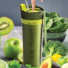 """加拿大 Asobu 双层""""空气阀""""真空保鲜保冷果蔬菜汁杯 500ML"""