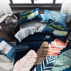 【三秒速热,急速升温】BOOMER生活家 定制版 AB双面色 加厚保暖法莱绒四件套 1.5米 1.8米 床单床笠款 床上用品