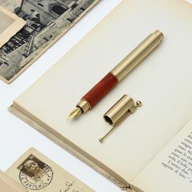 时光钢笔 | 私人定制,经典复古,黄铜实木组合出成熟气质