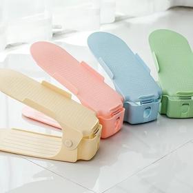 10个装鞋子收纳架双层可调节鞋托架收纳鞋架简易塑料鞋鞋收纳神器
