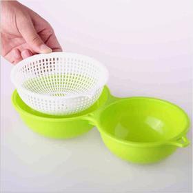 日本进口新INOMATA滤水洗菜沥水篮 多功能果蔬厨房小工具