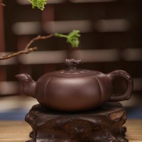 毛本新作品-紫砂七老系列之-柿扁壶