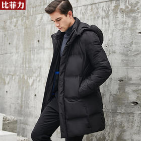 【抵御寒冷  锁住体温】比菲力长款鹅绒羽绒服、白鸭绒羽绒服  保暖舒适有型