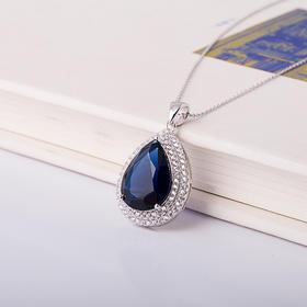 焕美  水晶蓝宝石流光套链