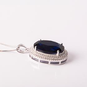 KING 水晶蓝宝石流光套链