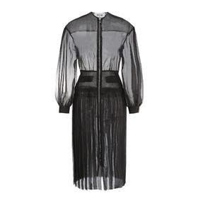 Greta Boldini  黑色欧根纱长款连衣裙外套