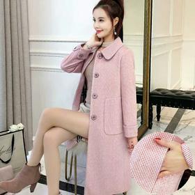 格子毛呢外套女中长款韩版2018新款秋冬季妮子呢子大衣女学生流行