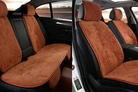 高档羊剪绒汽车坐垫套装,冬暖夏凉、柔软舒适、耐用易清洗