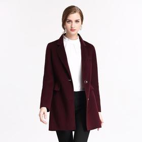 钡萱PASSION冬季新款 优雅西装领保暖修身毛呢大衣女呢子外套7WS207