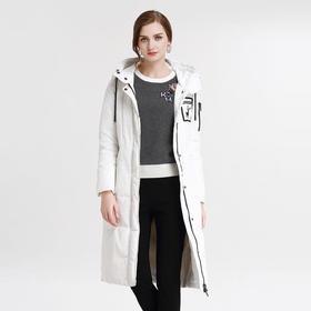 钡萱PASSION冬季新款时尚个性加厚保暖连帽羽绒服女修身外套7WY902