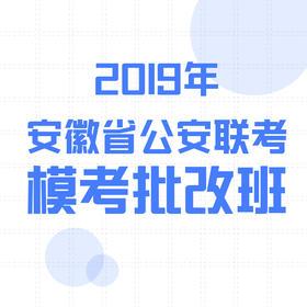 2019安徽公安联考  模考批改班