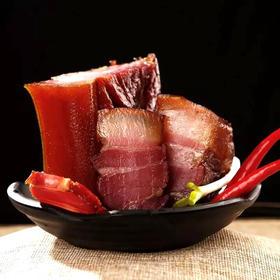 黑猪腊肉严选林下散养10个月以上,精选花椒、辣椒等配料,秘制配方。