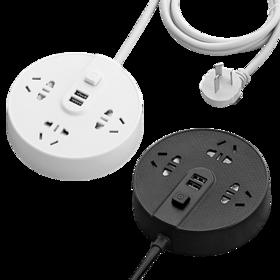 【可贴墙面 多功能插排】创意爬墙插线板 USB快充自带指示灯