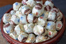 【包装已更新,茶品一致】糯米香小沱熟茶每袋500克