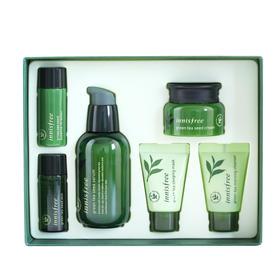 韩国innisfree悦诗风吟绿茶均衡小绿瓶6件套盒
