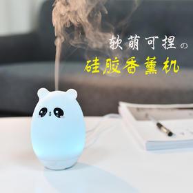 硅胶熊香薰机 办公桌面可爱迷你创意卡通usb超声波香薰加湿器