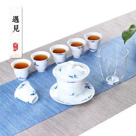 家用功夫茶具套装 玻璃简约陶瓷白瓷泡茶壶茶杯整套礼盒装