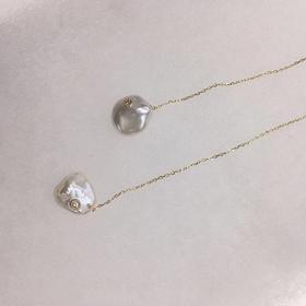 Rico  异形珍珠镶钻耳线