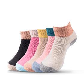 防寒暖足羊毛袜 女袜 (5双)
