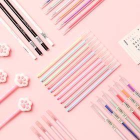 三年二班 彩色0.5mm中性笔套装Z韩国小清新可爱学生用水笔手帐笔