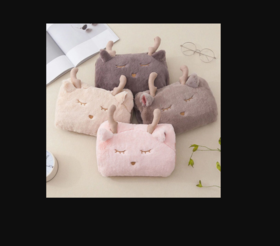 【暖手袋】创意美鹿麋鹿热水袋卡通暖手宝充电毛绒可拆洗电暖袋