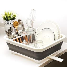 【折叠碗架 卫生又方便】枯法师 存水沥水双用盆 食品级材质 耐用防高温 沥水碗架