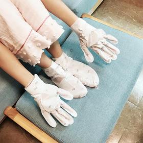 「从头嫩到脚,SPA级别护理」韩国Repiel莉碧儿手膜/脚膜5对/盒 发热发膜5片/盒 阿甘油滋润发膜 ,滋养受损毛躁发质 手膜/脚膜不影响玩手机,走路的手足护理