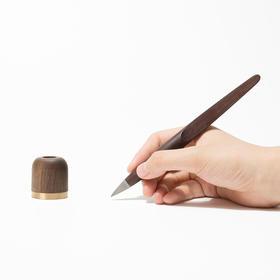 可收藏的原木笔,金属笔尖,特别的书写体验