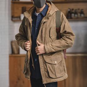 【保暖防风御寒】美式复古多袋油蜡加厚棉夹克