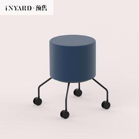 [InYard宜氧]八爪凳/滑轮梳妆凳/北欧设计师丝绒换鞋凳软包矮凳