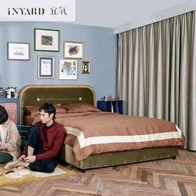 [InYard宜氧]大白丝绒床/进口布艺床北欧现代简约双人轻奢网红床