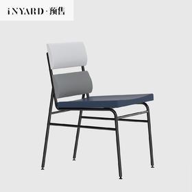 [InYard宜氧]挑染椅/北欧原创餐椅休闲/网红渐变紫/软包简约椅子