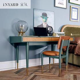 [InYard宜氧]梯岸书桌/北欧实木线盒收纳/设计师书桌写字台桌子