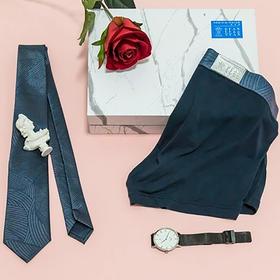 【简约高档】送男友老公男生男朋友内裤领带创意个性圣诞新年礼物