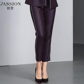 【商场同款】钡萱2018冬季新款 时尚条纹纯色减龄显瘦休闲长裤W82236D