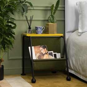 [InYard宜氧]落山边几/皮艺多功能北欧设计师床头柜沙发边桌茶几