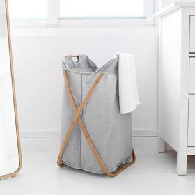 Gudee 脏衣篮衣服收纳筐 家用简约衣物篓衣桶洗衣篮折叠布艺