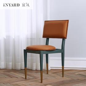 [InYard宜氧]红河椅/樱桃木实木餐椅/皮面软包/书桌椅子休闲椅