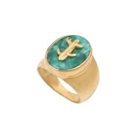 Louise Hendricks 祖母绿色造型戒指