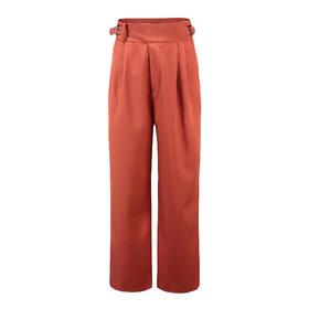 Covet 自有品牌 橘色高腰造型阔腿裤