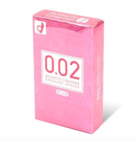 日本冈本002超薄粉色非乳胶安全套避孕套(6只装)