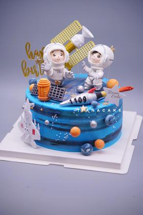 航空主题 翻糖蛋糕