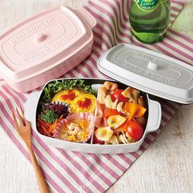 日本 takenaka 方形单层便当盒600ml 非陶瓷便当盒/饭盒