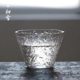 津轻石塚硝子初雪锥纹玻璃杯 单个装