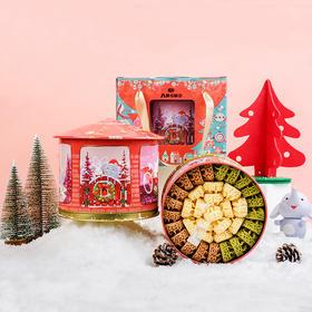 """(前450名买就送IP公仔)AKOKO圣诞音乐礼盒 超好吃的手工曲奇+原味雪花酥 无防腐无添加 """"甜""""化你的童心"""