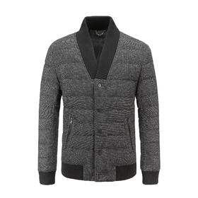 PROJECT AEGIS 黑灰色羊毛面料羽绒服