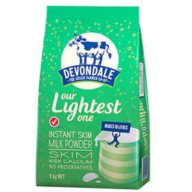 【直邮包邮】德运 (Devondale)调制乳粉(脱脂)成人奶粉 1kg × 3袋