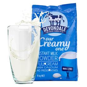 【直邮包邮】德运 (Devondale)调制乳粉(全脂)成人奶粉 1kg × 3袋