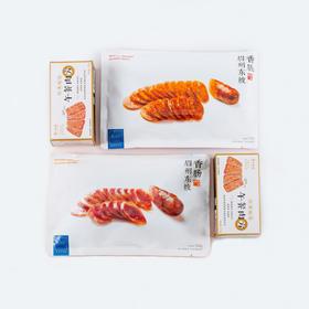 [眉州东坡 吃肉组合]香肠150g/盒*2(麻辣味+原味) 午餐肉320g/盒*2