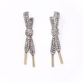SCHIELD LACES EARRING /系绳系列施华洛世奇镶钻耳环